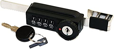 Combi-Ratchet 7865S 4-Dial Sliding Combination Ratchet Lock with Key Override for Glass Display Cases