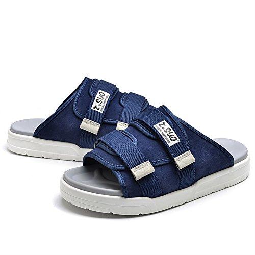 Insun Unisex Erwachsene Pantoffeln Flache Hausschuhe Komfort Sandalen Blau