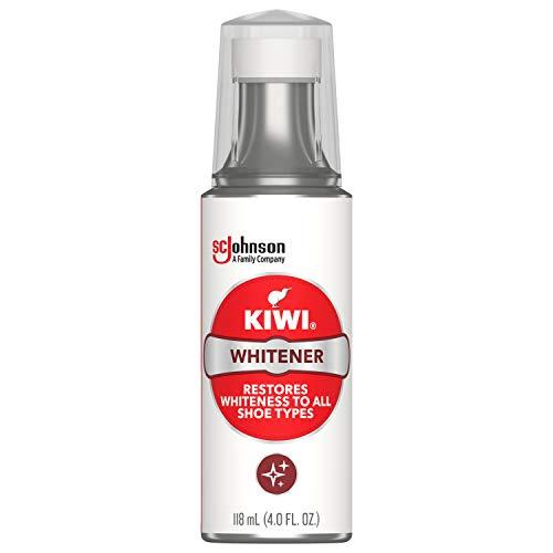 KIWI Shoe Whitener, White, 4.0 oz (1 Bottle with Sponge Applicator)