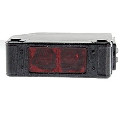 Telemecanique xum9apcnl2 polarizadas Reflex sensor fotoeléctrico, Mini de plástico rectangular cuerpo, DC entrada, 3-Wire PNP salida, 1 NO 1 NC Contacto, ...