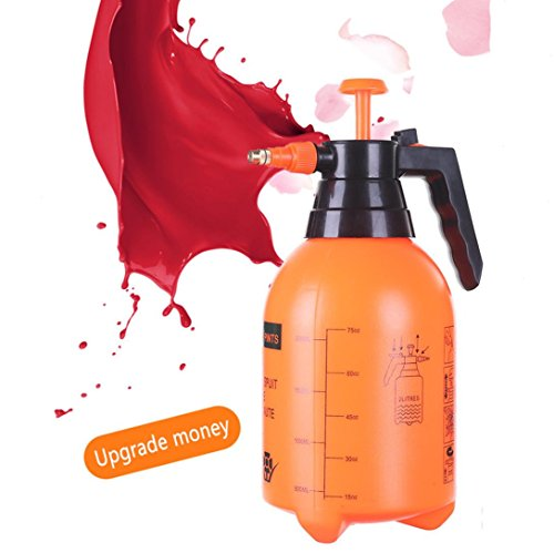 Garden Sprinkler & Spray Bottle for Plants & Gardens, Pneumatic Automatic Pressure Nozzle, 2.0 Liter,Great for Fertilizing, Cleaning & General Use Spraying Water - Chemicals - Pesticides ()