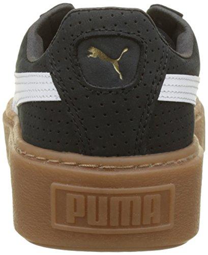 Scarpe puma Nero White Black Puma Basket Donna Ginnastica Platform Basse Perf Da puma Gum gold qv4Iaw