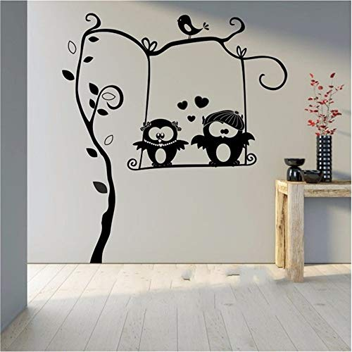Wall Sticker Quote Wall Decal Funny Wallpaper Removable Vinyl Cute Owl On Branch Childrens Room Decor Kids Room Decal Nursery Baby Bedroom Playroom -
