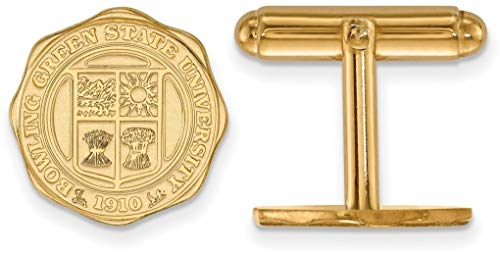 14K Yellow Gold Bowling Green State University Crest Cuff Links by LogoArt