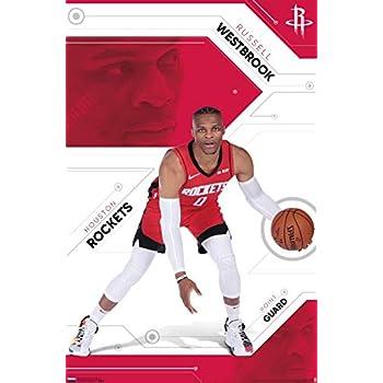 Trends International NBA Houston Rockets - Russell Westbrook Wall Poster, 22.375