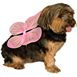 Rubies Costume Halloween Classics Collection Pet Costume, Small to Medium, Pink Fairy Wings