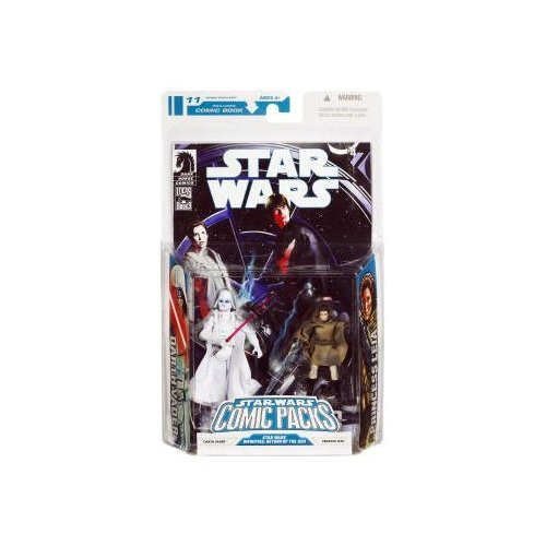 Star Wars Clone Wars Action Figure Comic 2-Pack Dark Horse: Infinites Return of the Jedi 3/4: White Vader and Princess Leia (Sniper) ()