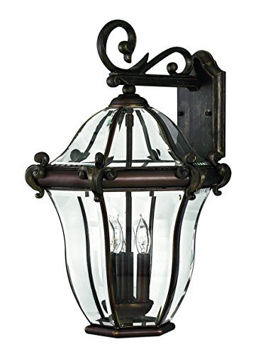 Hinkley 2445CB Traditional Three Light Wall Mount from San Clemente collection in Copperfinish,