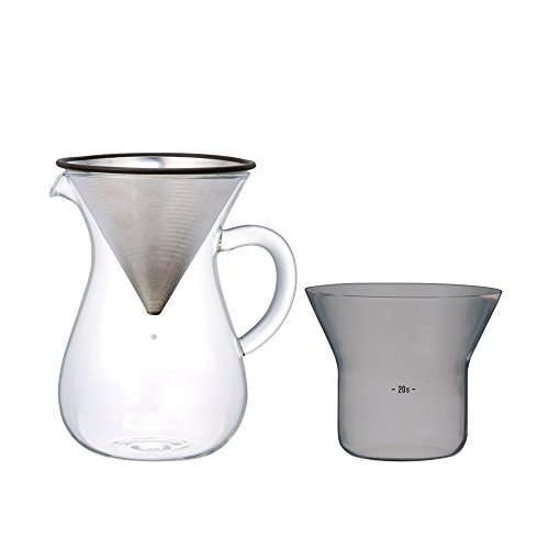 Kinto 300 ml Carafe Coffee Set with Stainless Steel - Shopping Rb Glasses