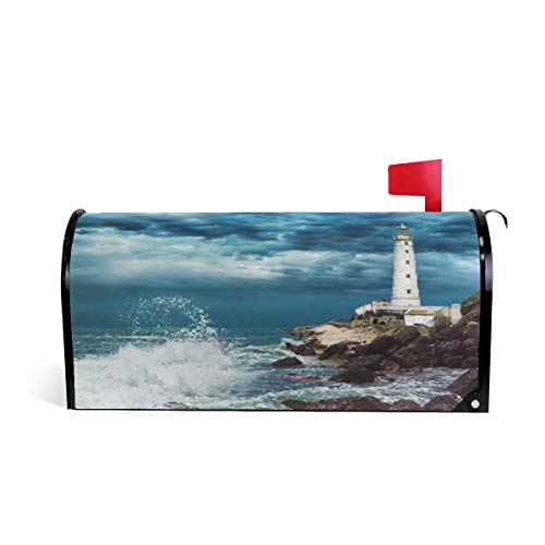 - ALAZA Lighthouse and Wood Pier Mailbox Cover Standard Size-18