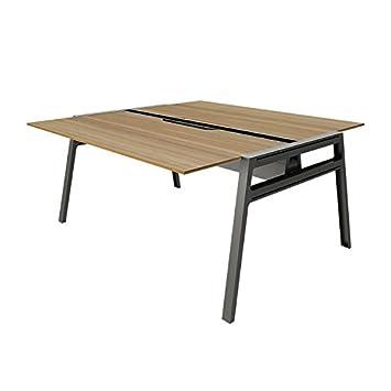 Turnstone Bivi Table For Two Laminate Color: Virginia Walnut, Finish:  Midnight Metallic,