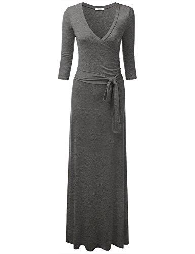 3/4 sleeve grey dress - 8