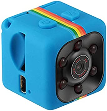Opinión sobre wEnBU SQ11 Mini cámara Soporte Ajustable Nocturno Instalación Simple Monitoreo de Gran Angular Detección móvil Azul