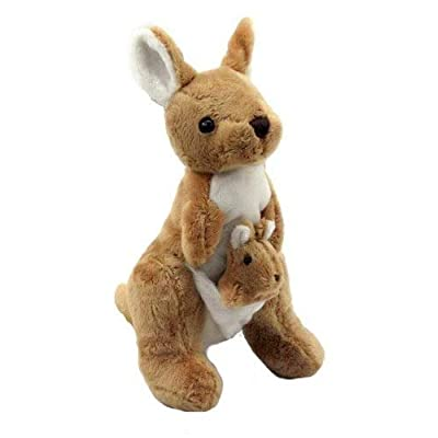 Plush Doll Stuffed Animal | Super Soft, Huggable Kangaroo Toy for Baby and Toddler Boys, Girls | Snuggle, Cuddle Pillow Stuffed with PP Cotton Filling | Great Gift Idea for Birthdays and Holidays: Toys & Games