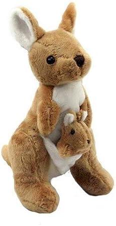 Amazon.com: Muñeca de peluche, súper suave, canguro de ...