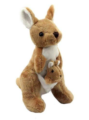 Plush Doll Stuffed Animal | Super Soft, Huggable Kangaroo Toy for Baby and Toddler Boys, Girls | Snuggle, Cuddle Pillow Stuffed with PP Cotton Filling | Great Gift Idea for Birthdays and Holidays