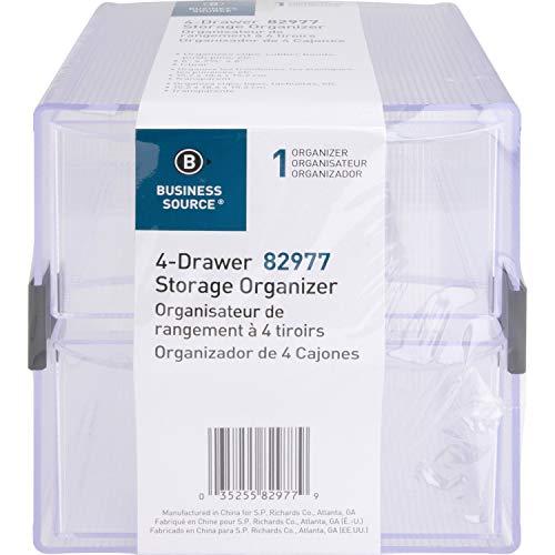 Business Source 4-drawer Storage Organizer ()