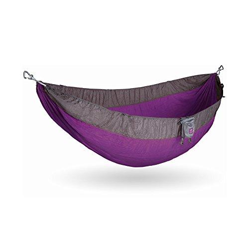 Kammok Roo Camping Hammock (Half-Moon Purple) - The World's Best Camping Hammock