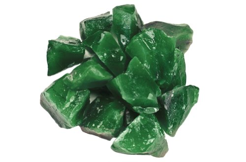 Hypnotic Gems Materials: 1 lb Imperial Z Green Stones from Asia - Rough Bulk Raw Natural Crystals for Cabbing, Tumbling, Lapidary, Polishing, Wire Wrapping, Wicca & Reiki Crystal Healing (Imperial Green Gem)