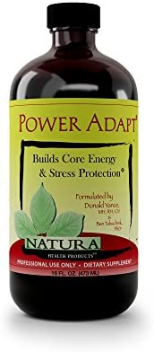 Power Adapt Energy and Stress Relief Supplement by Natura Health Products – Natural Herbal Extracts to Increase Stamina, Build Strength, and Promote Stress Protection – 16 Fluid Ounces