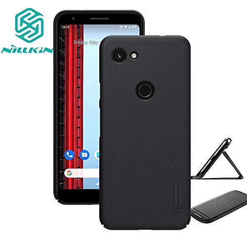 - for Google Pixel 3a Case,Nillkin Slim Thin Shield Anti Fingerprints Hard Matte PC Case Back Cover with Kickstand for Google Pixel 3a,Black