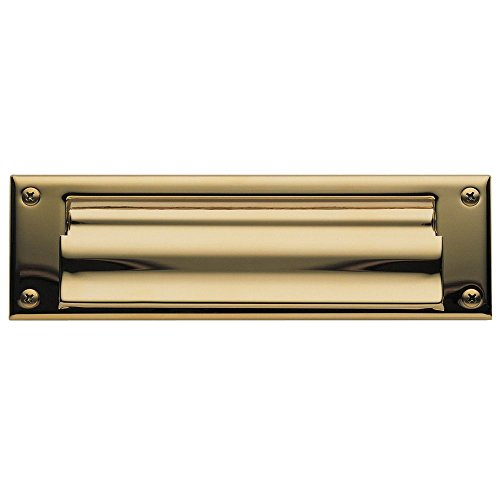 Baldwin Magazine - Baldwin 0015.003 Open Magazine Size Letter Box Plate, Lifetime Polished Brass