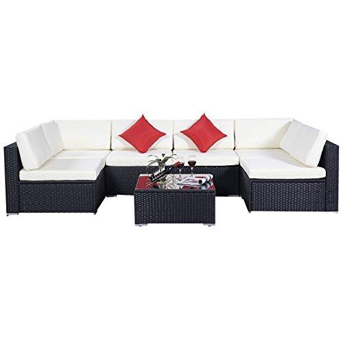 15tlg.Rattan Set Gartenmöbel Lounge Polyrattan Sitzgruppe Rattanmöbel Garnitur Garten