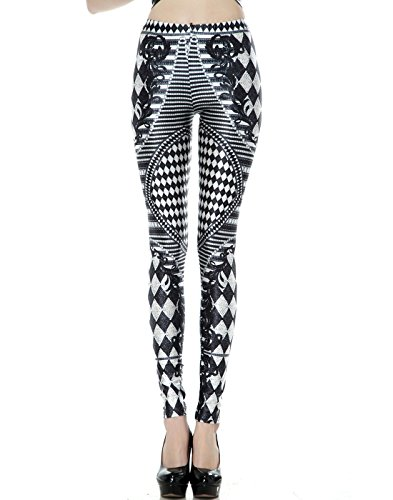 HDE Graphic Leggings Footless Stretch