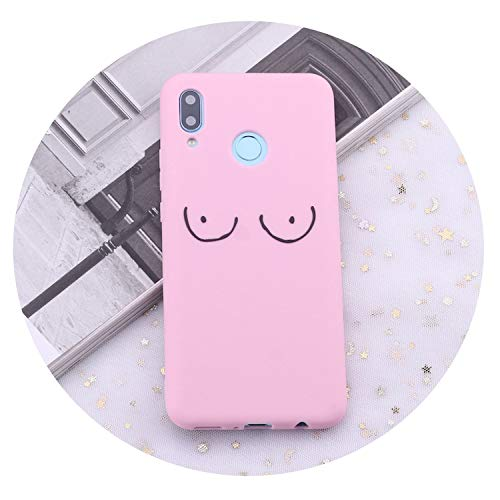 for Huawei Honor Mate 10 20 Nova P20 P30 P Smart Girl Women Chest Nipple Crop Candy Silicone Phone Case Cover Capas Coque,3,Honer 9 lite