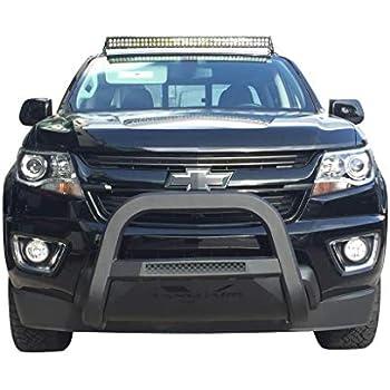 VANGUARD Off Road VGUBG-1887-0929BK-LED For Toyota Highlander 2014-2019 Bumper Guard Black Optimus Series LED Bull Bar with Black Skid Plate