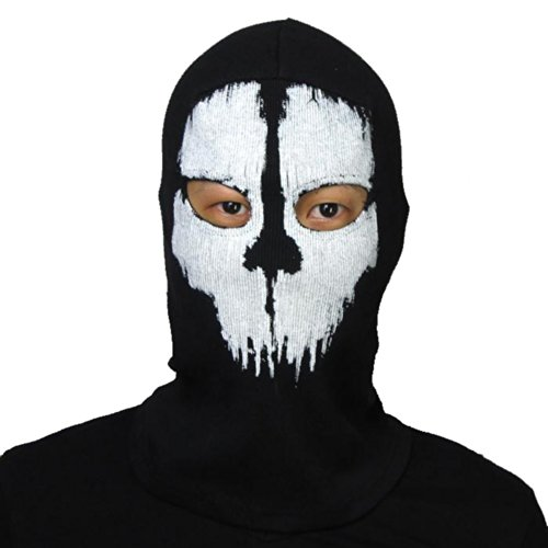 Coxeer® Geister Schädel-Maske Balaclava Hood Ghosts Skull Mask Outdoor Sports Skilaufen Wandern Full Face Mask for Men Maske für Männer