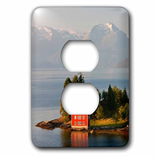 3D Rose LSP_227799_6 Small Island in Hardangerfjorden Near Bergen, Western Fjords, Norway 2 Plug Outlet Cover