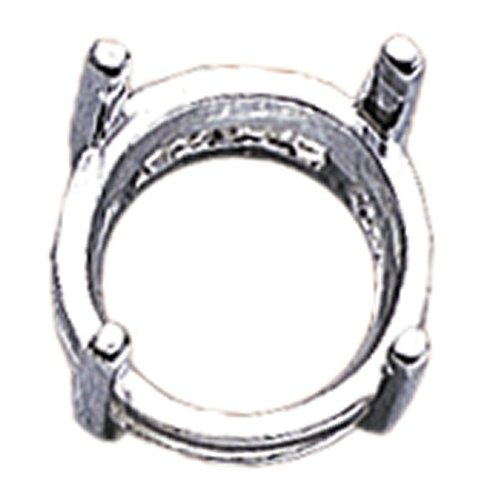 Pre Notched Settings - Sterling Silver 10mm Round Pre-Notched Legendary Setting, 4-Prong