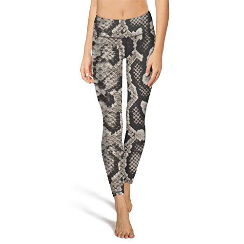 RegiDreae Women's High Waist Yoga Pants Snake Skin Pattern Workout Running Leggings