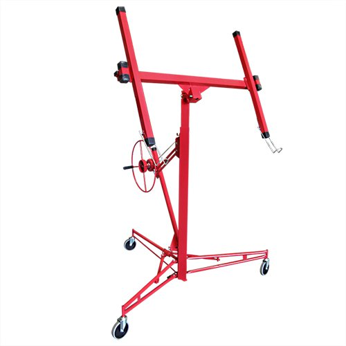 Drywall 11' Lift Panel Hoist Dry Wall Jack Lifter Construction Tools, Large, Red (Tool Lift)