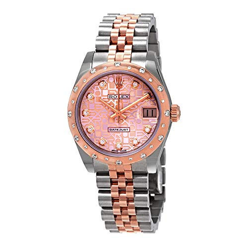 Rolex Datejust 31 Pink Jubilee Diamond Dial Ladies Steel and 18kt Everose Gold Watch 178341PJDJ (Rolex Datejust Lady 31 Rose Gold Price)