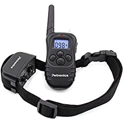 Petronics 330 Yards Rechargeable Shock Training Collar with Remote, Electronic Dog Training Collar for Large Dog with Static Shock, Vibration, Beep and Light