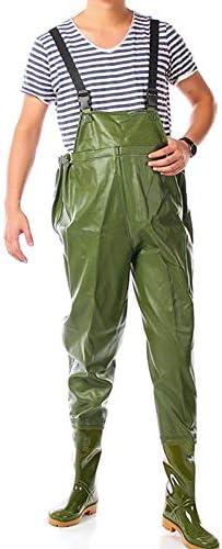 防水ナイロン釣りユニセックス胸ウェーダー 狩猟緊急時には防水洪水ダックナイロンチェストウェーダーのために男性とブーツの使用についてはフライフィッシング チェスト ハイ ウェダー 防水 釣り (色 : 緑, Size : 40)