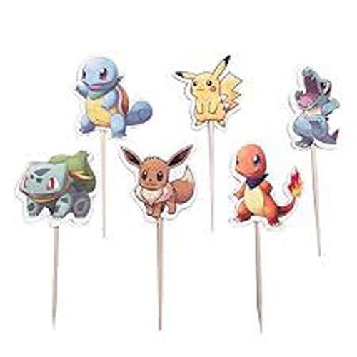 Set of 24 Cupcake Decorations Pikachu Pokemon