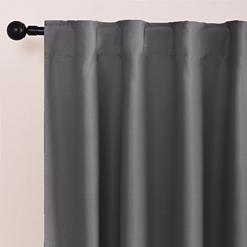 blackout curtains for bedroom 54 inches length drapes with 14 back loops plus rod pocket. Black Bedroom Furniture Sets. Home Design Ideas