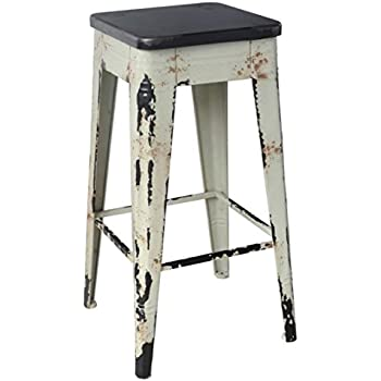Amazon Com Moes Home Collection Sturdy Bar Stool White