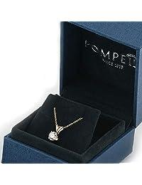 1 2ct Oro Amarillo Ronda Diamond Solitaire Colgante 14 K