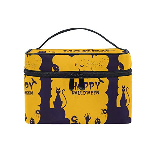 Futurama Halloween Special (Makeup Bag Orange Halloween Cat Travel Cosmetic Bags Organizer Train Case Toiletry Make Up)