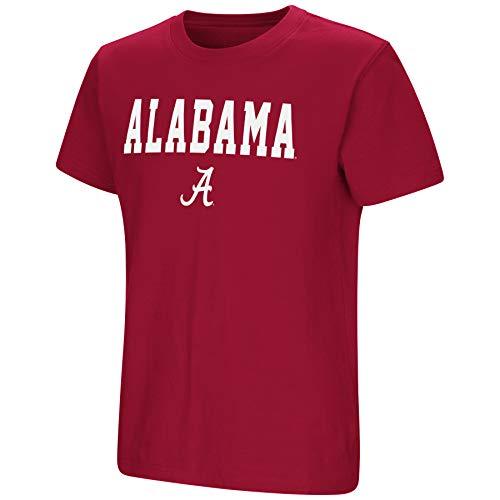 Colosseum NCAA Youth Boys-Talk The Talk-Cotton T-Shirt-Alabama Crimson Tide-Crimson-Youth XL