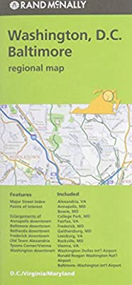 Folded Map Washington DC Baltimore MD Regional (Rand Mcnally Regional Map)