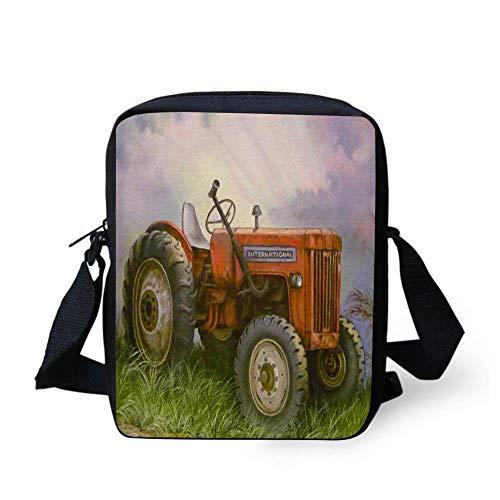 WEKJNskeee Old International Farm Tractor Custom Crossbody Messenger Bag Shoulder Tote Sling Postman Bags One Size ()
