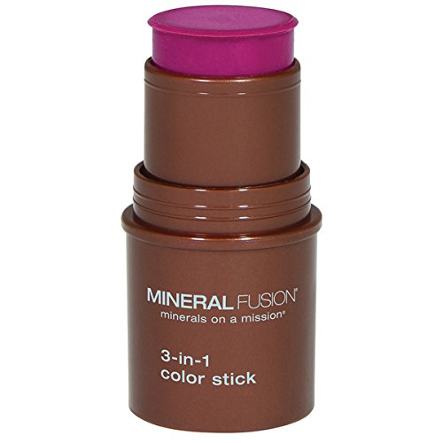 (Mineral Fusion 3-in-1 Color Stick, Berry Glow.18 Ounce)