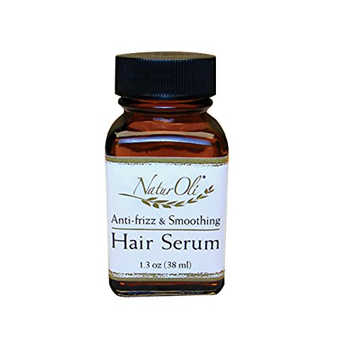 NaturOli 100% Natural Hair Serum - Anti-Frizz, Smoothing Detangler - W/ Argan Oil (1.3oz)