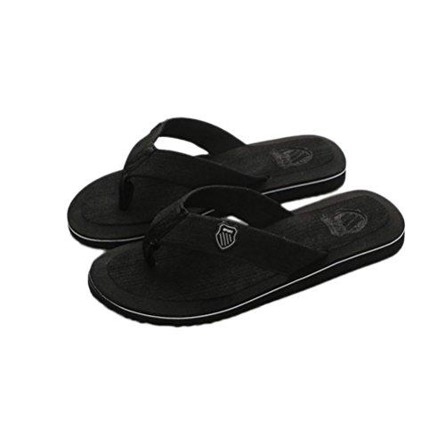 New!Todaies,Men's Summer Flip-Flops Slippers Beach Sandals Indoor Sandals Outdoor Casual Shoes 6 Colors (US:7, Black) (Flip Flops Shoes For Men)