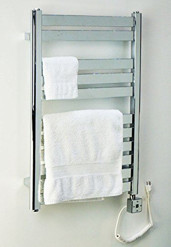 Heated Towel Rail Electric Wall Mount Bathroom Towel Warmer R13C-300W. CDM